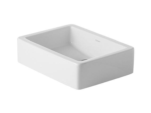 Duravit Vero Aufsatzwaschtisch B:50xT:38cm ohne Hahnloch ohne Überlauf geschliffen weiß 0455500000