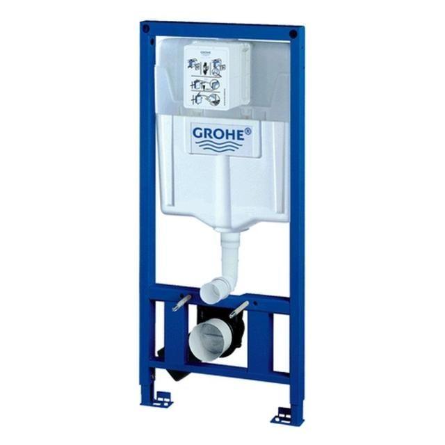 Grohe Rapid SL mit WC-Spülkasten für Wand-WC Höhe:120m für WCs mit Auflagefläche unter 20cm 38897000