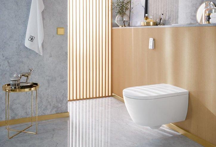Villeroy & Boch ViClean Tiefspül-Dusch-WC spülrandlos DirectFlush B:38,5xH:41,5xL:59,5cm weiß Ceramicplus V0E100R1