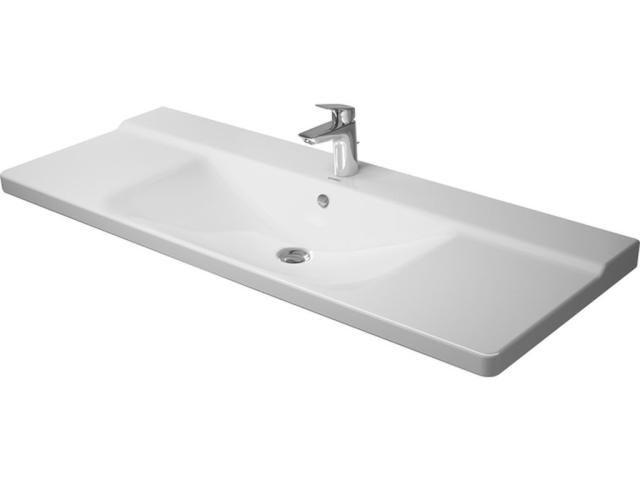 Duravit P3 Comforts Möbelwaschtisch B:125cm 3 Hahnlöcher mit Überlauf weiß 2332120030
