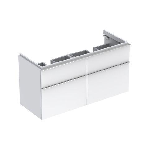 Geberit Keramag iCon Waschtischunterschrank mit 2 Auszügen und 2 Schubladen B:1190xT:477xH:620mm alpin hochglanz 840520000