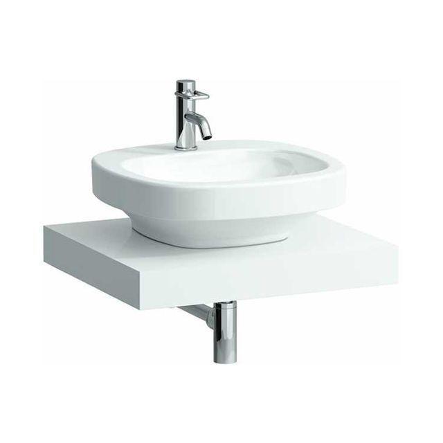 Laufen Case Waschtischplatte ohne Ausschnitt B:59,5xT:52cm weiß H4051100754631
