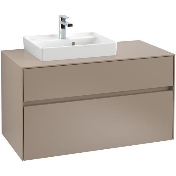 Villeroy & Boch Waschbeckenunterschrank Collaro C01400, 1000 x 548 x 500 mm, 2 Auszüge, Waschbecken links, Arizona Oak C01400VH
