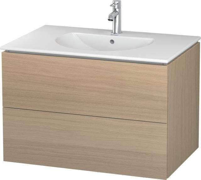 Duravit L-Cube Waschtischunterschrank wandhängend B:82xH:55xT:53,4 cm mit 2 Schubkästen mediterrane eiche LC626207171