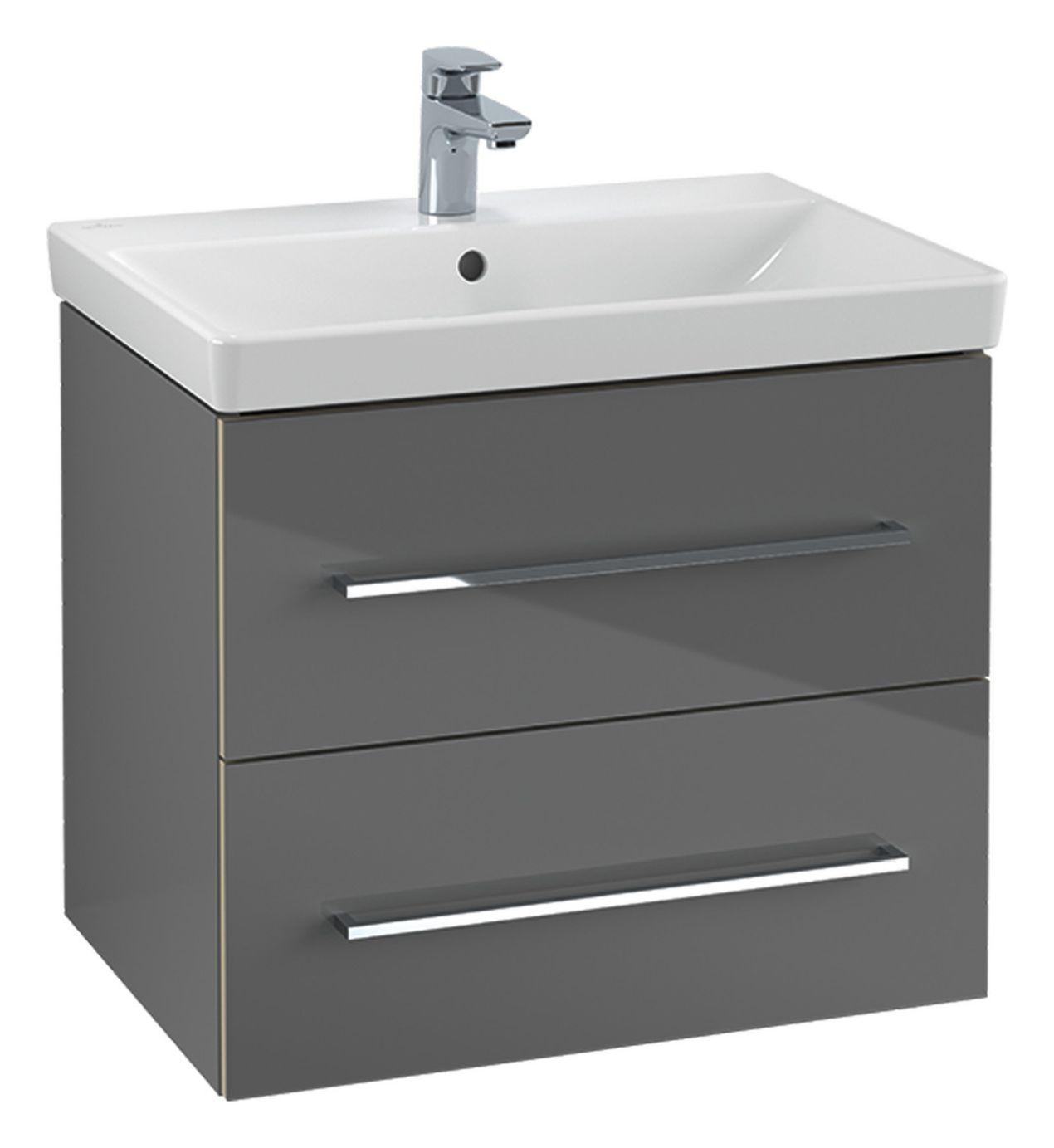 Villeroy & Boch Avento Waschtischunterschrank mit 2 Auszügen B:56,7 x H:52 x T:44,7 cm crystal white A88900B4
