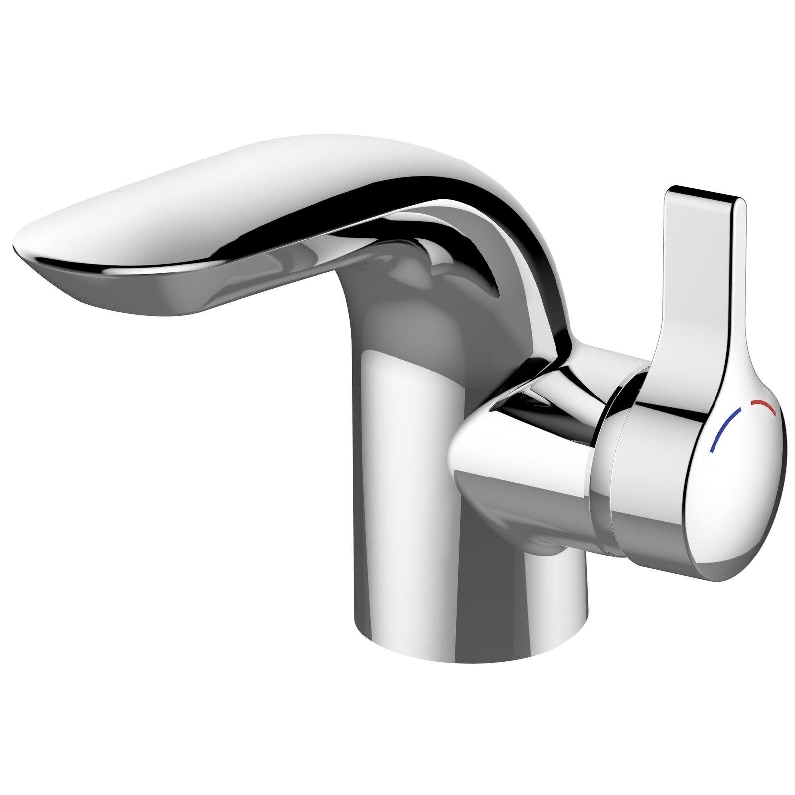 Ideal Standard Melange Einhebel-Waschtischmischer ohne Ablaufgarnitur Starrer Gussauslauf Ausladung 105 mm chrom A6118AA