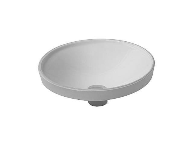 Duravit Architec Einbauwaschtisch rund DM:37,5cm ohne Hahnloch ohne Überlauf unten glasiert weiß 0319370000