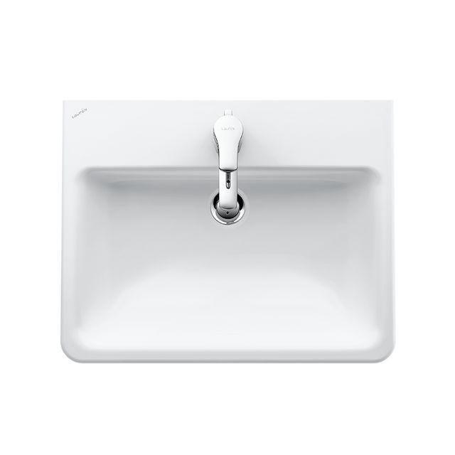 Laufen Pro S Einbauwaschtisch B:56xT:44cm 3 Hahnlöcher mit Überlauf weiß mit CleanCoat LCC H8189634001081