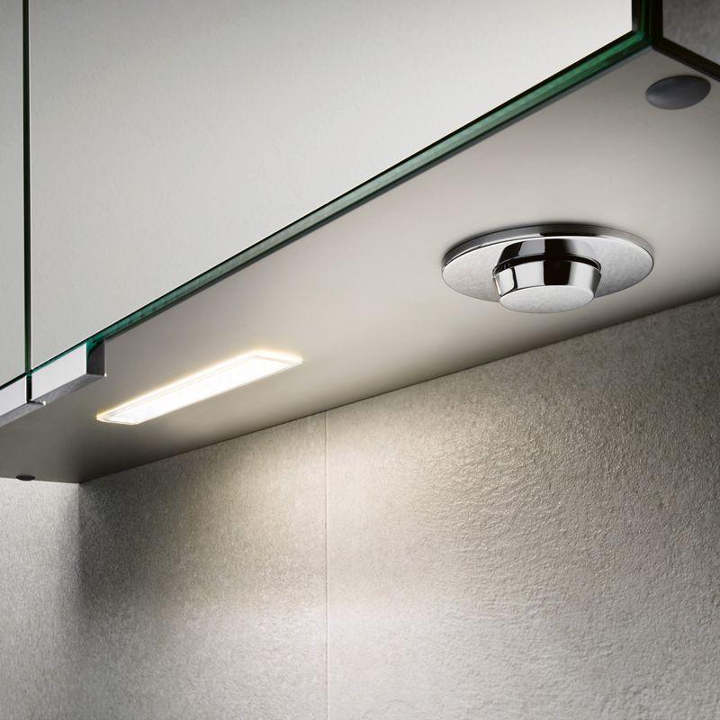 Keuco Royal L1 Spiegelschrank mit 2 Türen und Schubkästen B:65xH:74,2 cm silber gebeizt eloxiert 13602171302