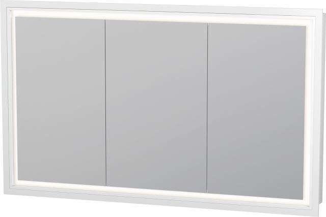 Duravit L-Cube Spiegelschrank Einbauvariante B:120xH:70xT:15,4cm mit LED Beleuchtung 3 Spiegeltüren LC765300000
