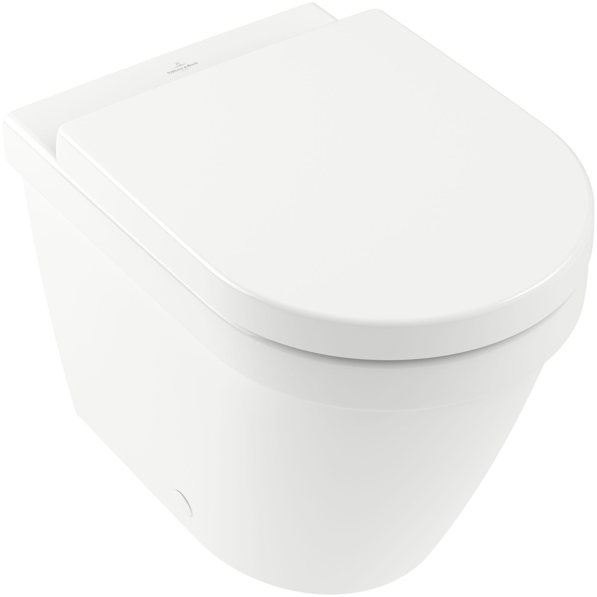 Villeroy & Boch Architectura Stand-Tiefspül-WC B:37xT:54cm DirectFlush mit offenem Spülrand wandnah weiß 5690R001