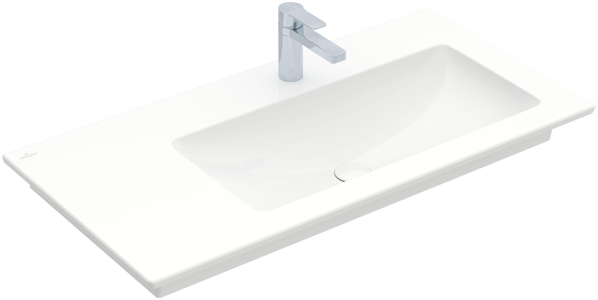 Villeroy & Boch Venticello Möbelwaschtisch B:100xT:50cm 1 Hahnloch ohne Überlauf weiß 4134R201