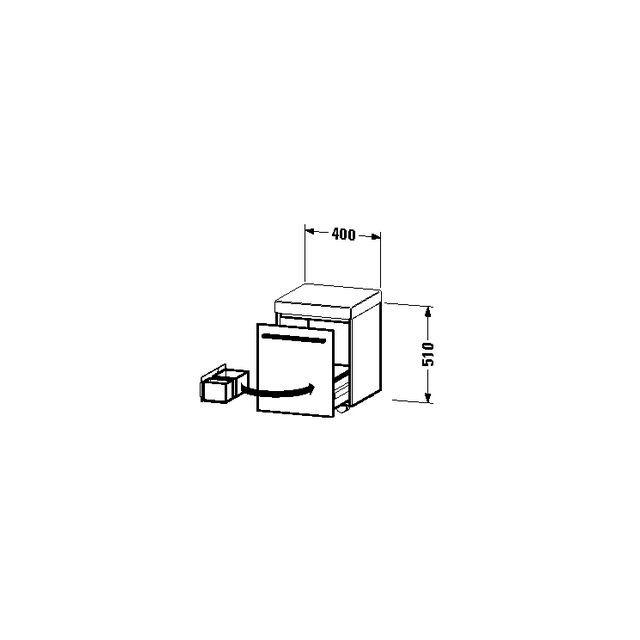 Duravit X-Large Rollcontainer B:40xH:51xT:40 cm mit 1 Auszug und 1 Polster graphit matt XL270404949