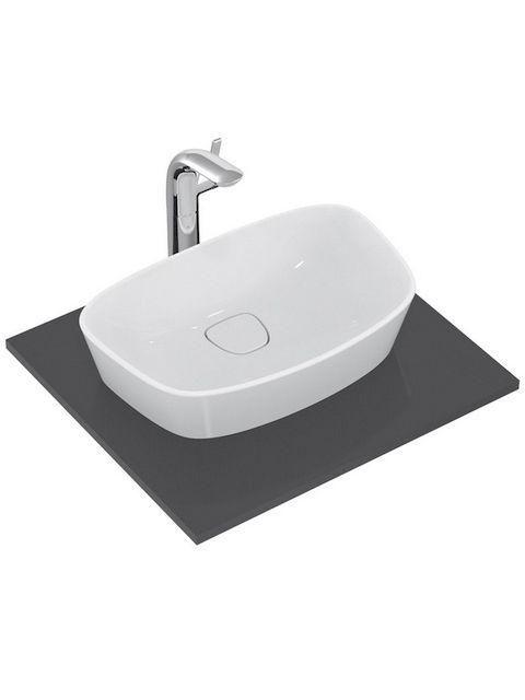 Ideal Standard Dea Schalenwaschtisch B:52xT:32xH:15cm ohne Hahnloch ohne Überlauf weiß seidenmatt mit IdealPlus T0443MI