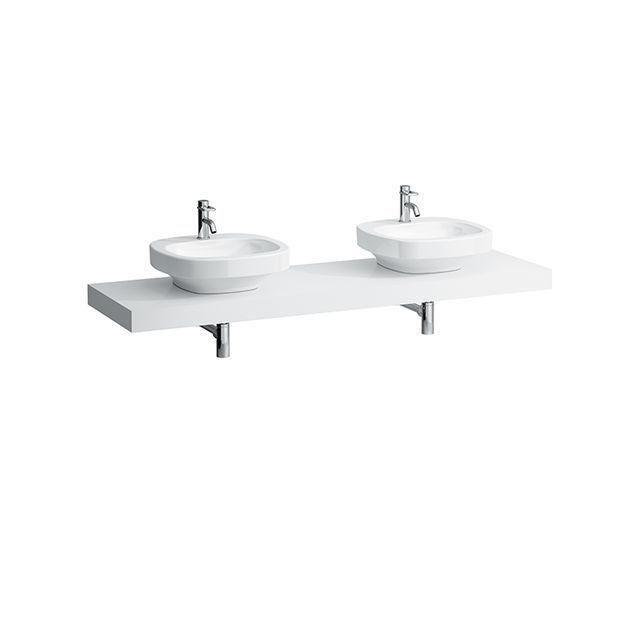Laufen Case Waschtischplatte Ausschnitt links und rechts B:178,5xT:52cm weiß H4051640754631