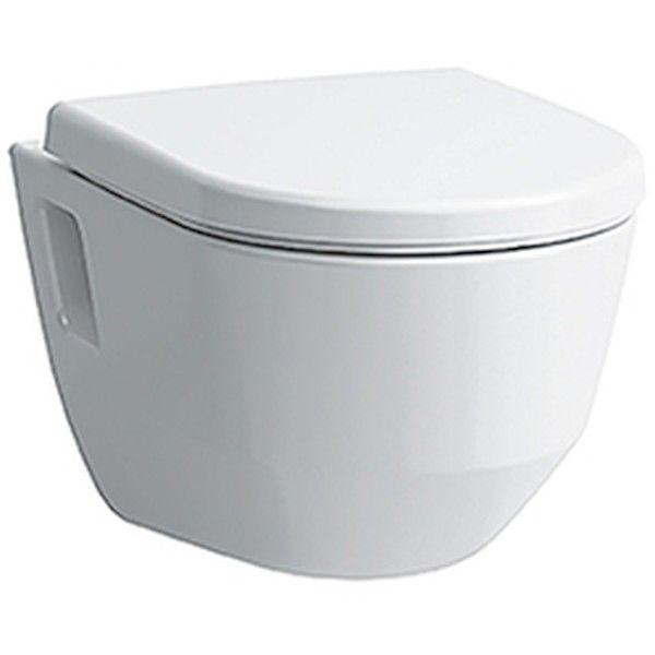 Laufen Pro Tiefspül-Wand-WC spülrandlos L:53xB:36cm weiß mit CleanCoat LCC H8209644000001