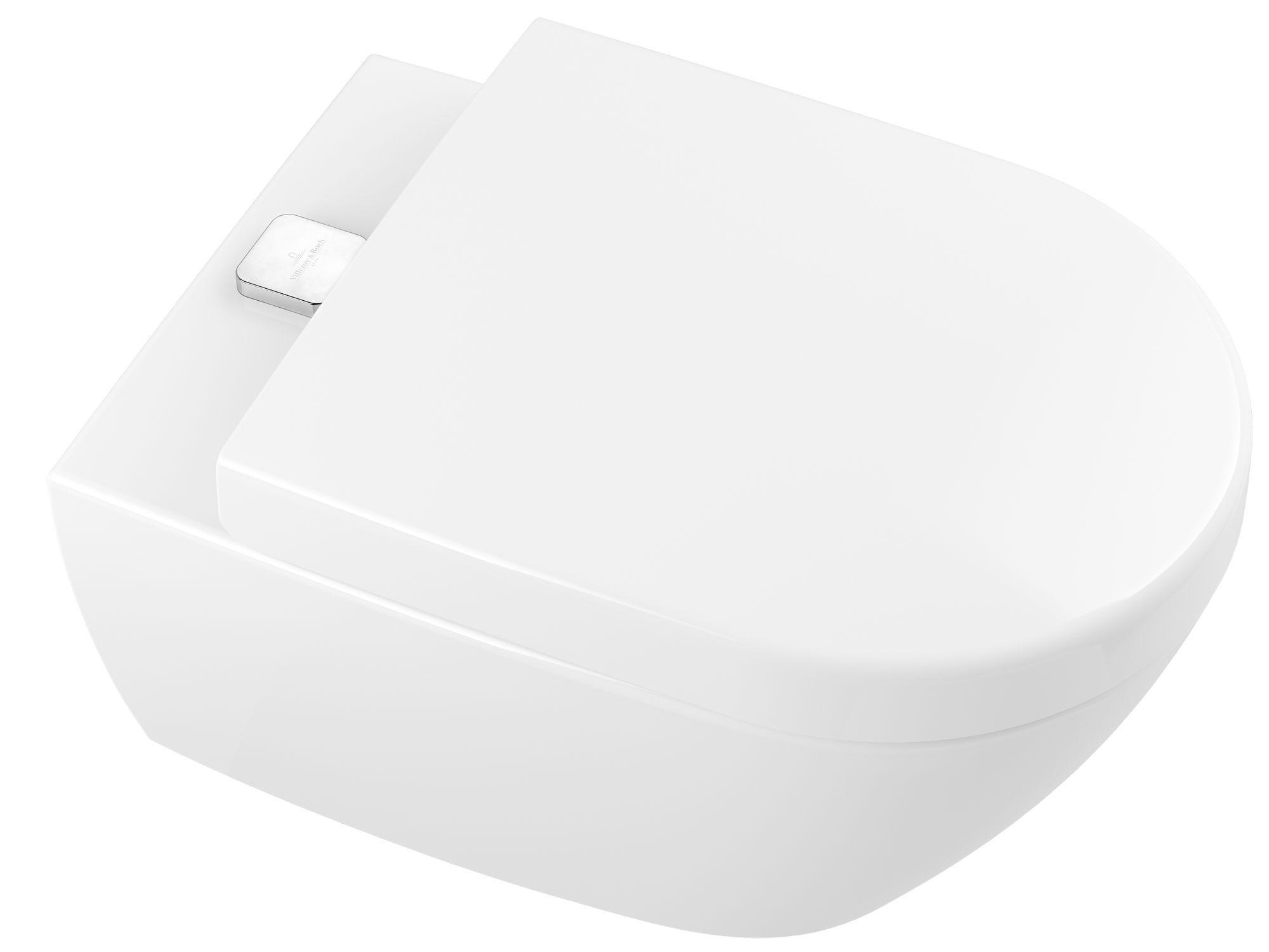 Villeroy & Boch Subway 2.0 ViFresh Wand-Tiefspül-WC spülrandlos L:56xB:37cm DirectFlush mit offenem Spülrand weiß mit CeramicPlus 5614A1R1