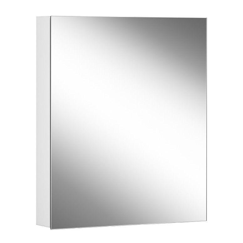 Schneider Spiegelschrank ADVANCED Line Comfort 60/1/TW B:60xH:70xT:12cm mit Beleuchtung mit Kosmetikspiegel weiß 179.060.02.02