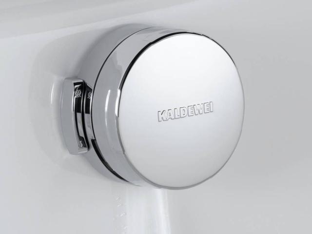 Kaldewei Comfort-Level Plus Ab- und Überlaufgarnitur für Badewannen 4016 für Asymmetric Duo weiß 689710550001
