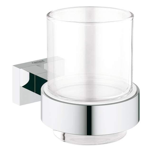 Grohe Essentials Cube Glas mit Halter chrom 40755001