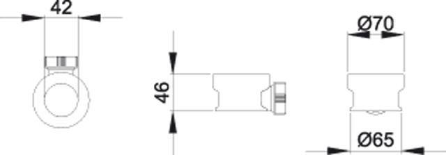 Bette Waschtischadapter mit Überlauf verchromt Z0015897
