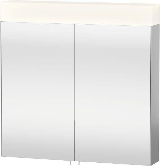 Duravit Vero Spiegelschrank mit Beleuchtung B:80xH:14,2xT:80cm 2 Spiegeltüren verspiegelt VE750200000