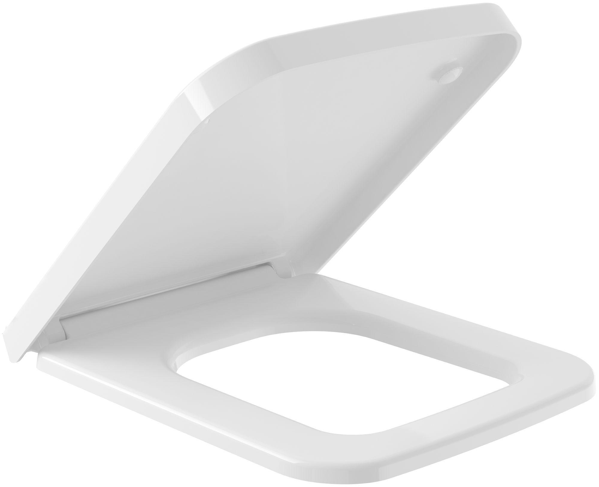 Villeroy & Boch Finion WC-Sitz mit Absenkautomatik weiß Ceramicplus 9M88S1R1