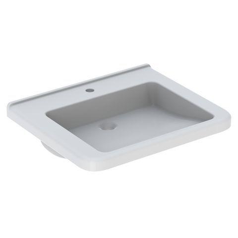 Geberit Keramag Renova Comfort Waschtisch B:65xT:55cm 1 Hahnloch ohne Überlauf unterfahrbar weiß 128667000