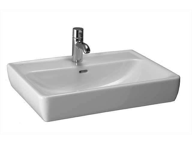 Laufen Pro Aufsatzwaschtisch B:65xT:48cm 1 Hahnloch mittig mit Überlauf weiß mit CleanCoat LCC H8179534001041