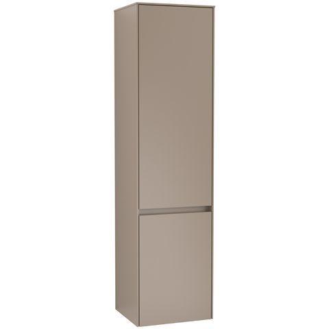 Villeroy & Boch Hochschrank Collaro, 404 x 1538 x 349 mm, 2 Türen, Anschlag (Scharnier) links, Soft Grey C03300VK