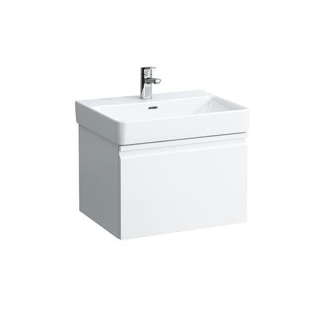 Laufen Pro S Waschtischunterbau 1 Schublade B:57xH:39xT:45cm weiß matt H4833710964631