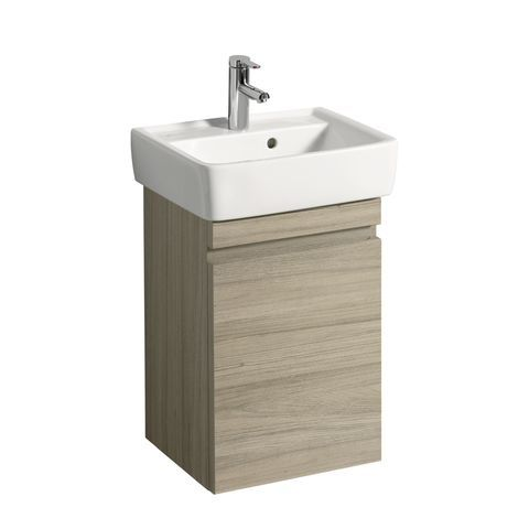 Geberit Keramag Renova Plan Handwaschbecken-Unterschrank mit 1 Tür Türanschlag wählbar B:414xT:345xH:586mm ulme gebürstet 869052000