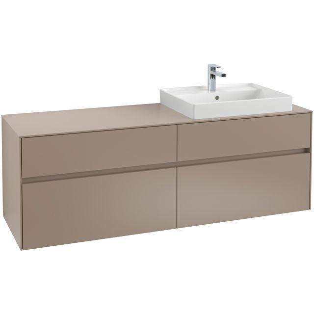 Villeroy & Boch Waschbeckenunterschrank Collaro C02300, 1600 x 548 x 500 mm, 4 Auszüge, Waschbecken rechts, White Matt C02300MS