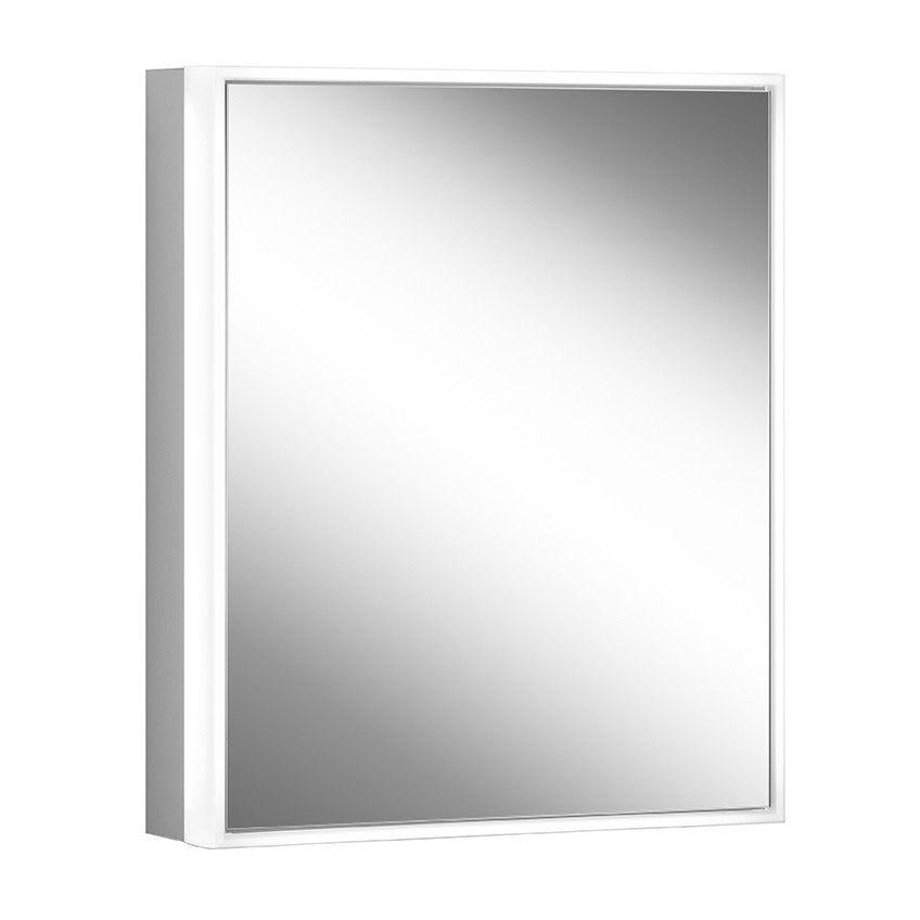 Schneider Spiegelschrank PREMIUM Line Ultimate 50/1/HCL/L B:52,5xH:73,3xT:15,8cm mit Beleuchtung mit Kosmetikspiegel eloxiert 182.051.02.50