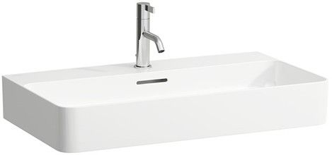 Laufen VAL Aufsatzwaschtisch mit einem Hahnloch mit Überlauf Unterseite geschliffen B:75xT:42cm weiß H8162850001041