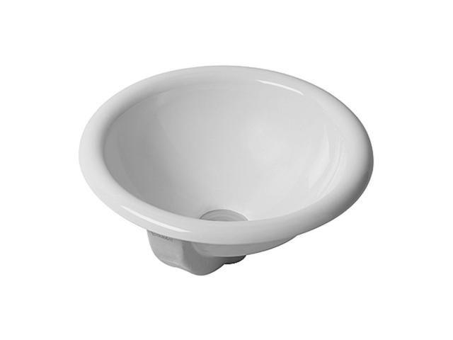 Duravit Architec Einbauwaschtisch rund DM:40cm ohne Hahnloch mit Überlauf unten glasiert weiß 0318400000