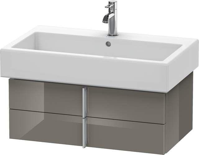 Duravit Vero Waschtischunterschrank wandhängend für 045480 B:75xH:29,8xT:43,1cm 2 Schubkästen flannel grey hochglanz VE620608989
