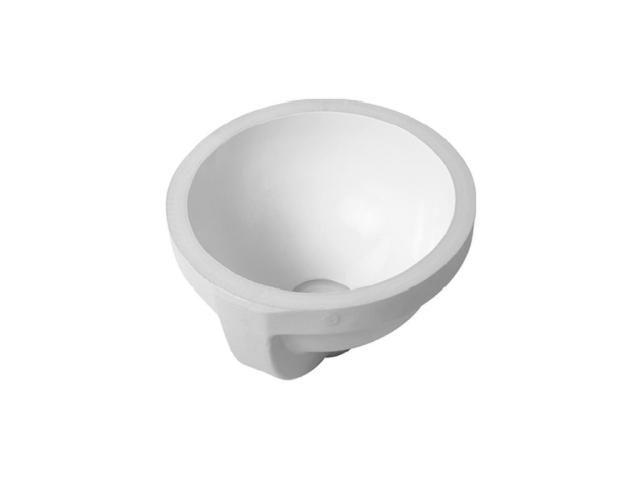 Duravit Architec Einbauwaschtisch rund DM:27,5cm ohne Hahnloch mit Überlauf unten glasiert weiß 0319270000