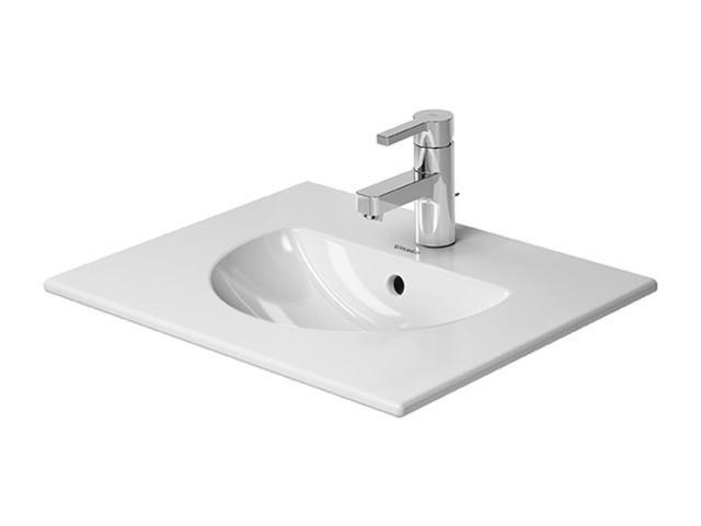 Duravit Darling New Möbelwaschtisch B:53xT:42cm 1 Hahnloch mittig mit Überlauf weiß 0499530000