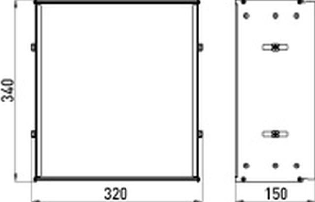 Emco asis Einbaurahmen 340 mm 978100021