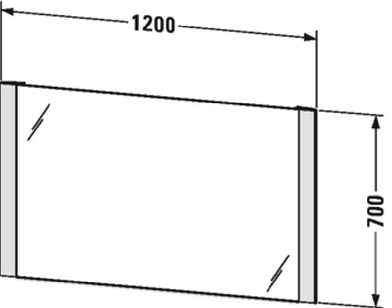 Duravit Licht&Spiegel mit Beleuchtung seitlich mit Sensorschalter B:120xH:70xT:3,4 cm LM787800000