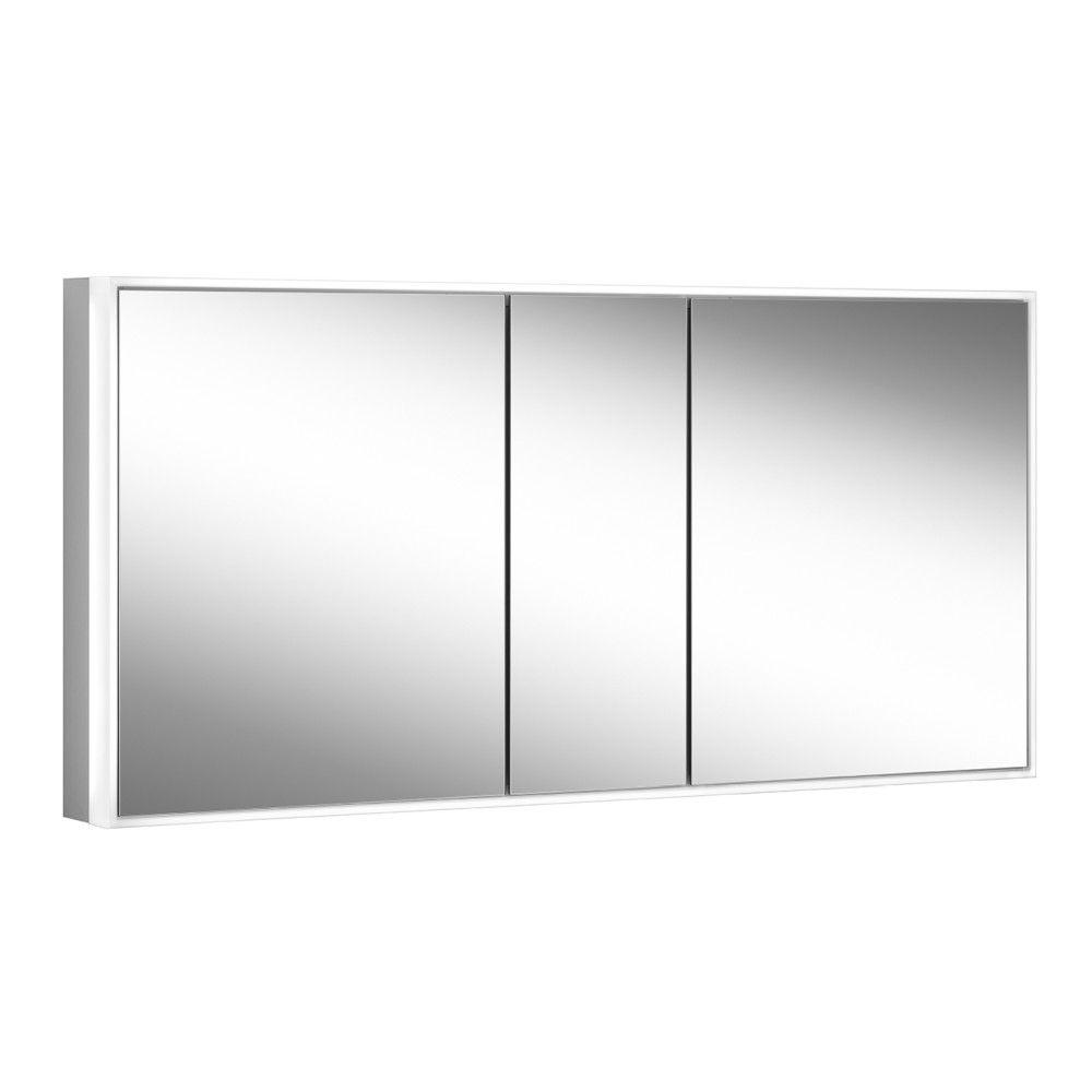 Schneider Spiegelschrank PREMIUM Line Ultimate 150/3/HCL B:152,5xH:73,3xT:15,8cm mit Beleuchtung mit Kosmetikspiegel eloxiert 182.150.02.50