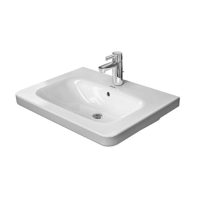 Duravit DuraStyle Möbelwaschtisch B:65xT:48cm ohne Hahnloch mit Überlauf weiß 2320650060