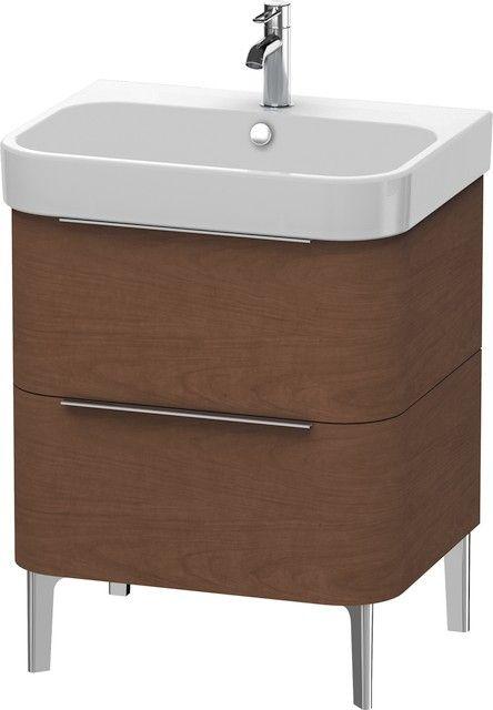 Duravit Happy D.2 Waschtischunterschrank stehend B:62,5xH:57,3xT:48 cm mit 2 Schubkästen amerikanischer nussbaum H2637201313