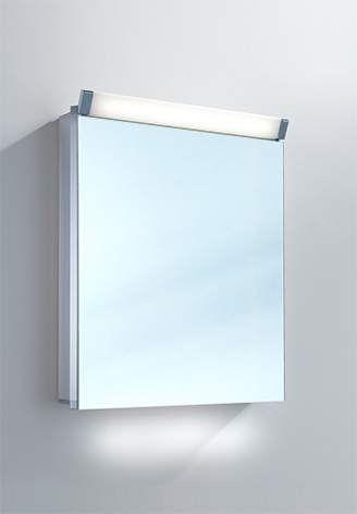 Schneider Paliline LED Spiegelschrank B:50xH:76xT:12cm 1 Tür Anschlag wählbar Alu eloxiert 159.050.02.50