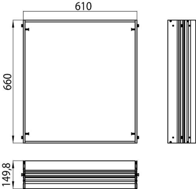 Emco asis Einbaurahmen 989700006, 610x660 mm
