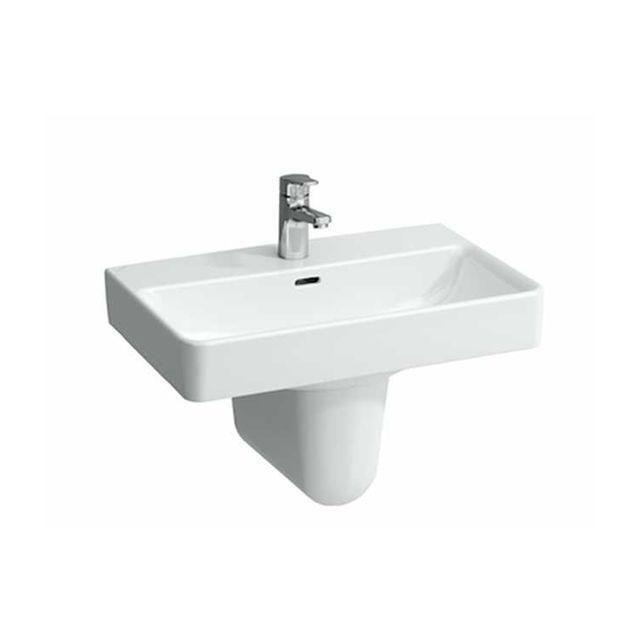 Laufen Pro S Waschtisch B:60xT:38cm 1 Hahnloch mittig ohne Überlauf weiß mit CleanCoat LCC H8189594001561