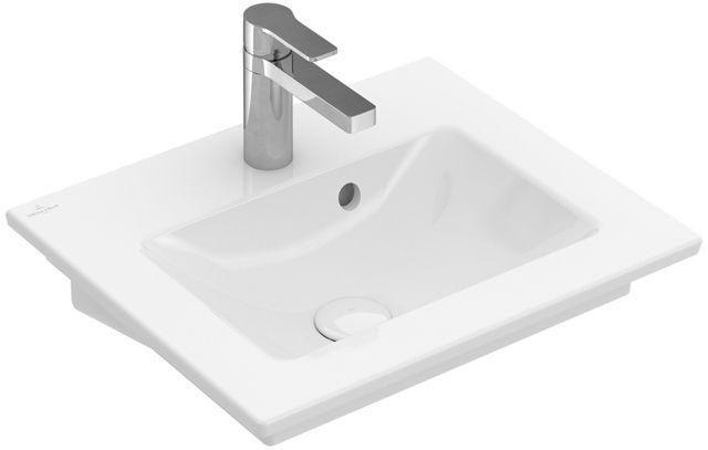 Villeroy & Boch Venticello Handwaschbecken B:50xT:42cm 1 Hahnloch mit Überlauf weiß 41245001