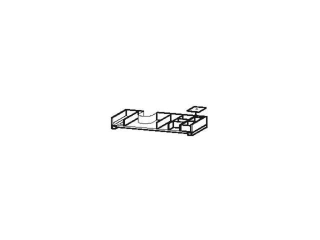 Duravit L-Cube Einrichtungssystem asymetrisch Universal Schubkasten 820mm mit Siphonausschnitt nussb.massiv UV999507777