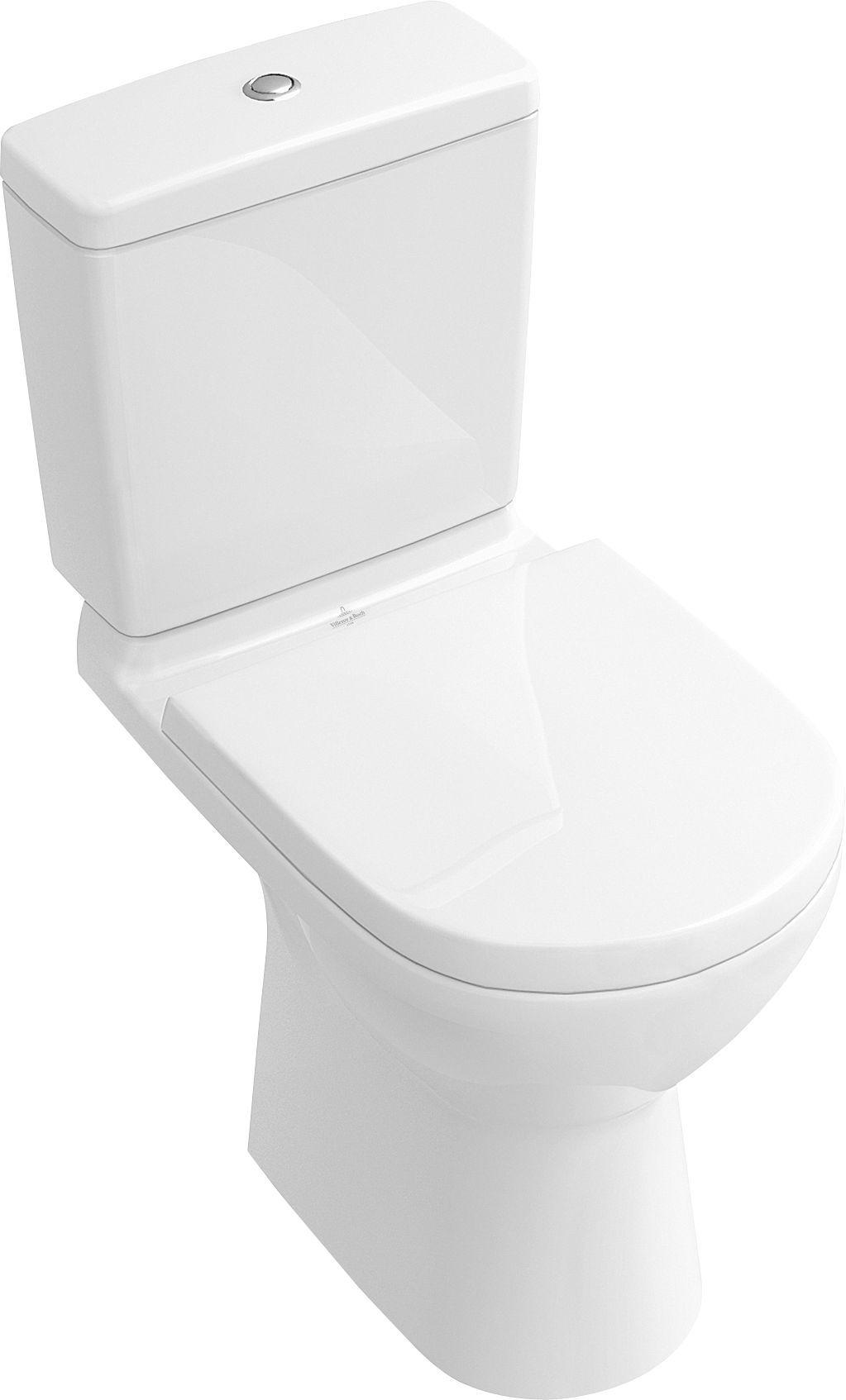 Villeroy & Boch O.novo Stand-Tiefspül-WC DirectFlush mit offenem Spülrand für Aufsatzspülkasten L:67xB:36xH:40cm weiß mit CeramicPlus 5661R0R1